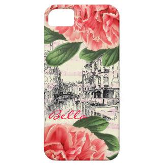 BellaイタリアのシャクヤクのiPhone 5場合/カバー iPhone SE/5/5s ケース