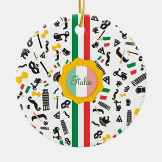 Bellaイタリアの旗が付いているイタリアンな文化項目 セラミックオーナメント