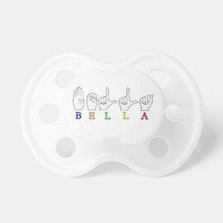 BELLA一流ASL FINGERSPELLEDの印 おしゃぶり