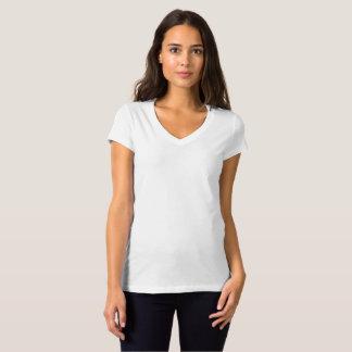 Bella オリジナルレディース V ネックシャツを作成 Tシャツ