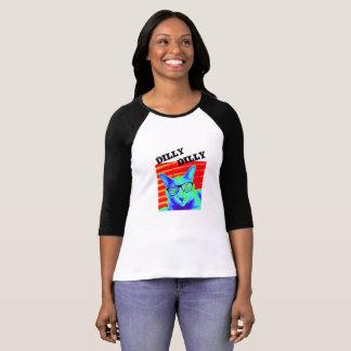 Bella Cavasの信号器のTシャツ猫のDillyのDillyのおもしろい Tシャツ