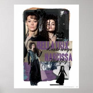 Bellatrix LestrangeおよびNarcissa Malfoy ポスター
