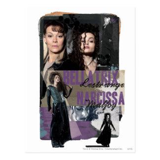 Bellatrix LestrangeおよびNarcissa Malfoy ポストカード