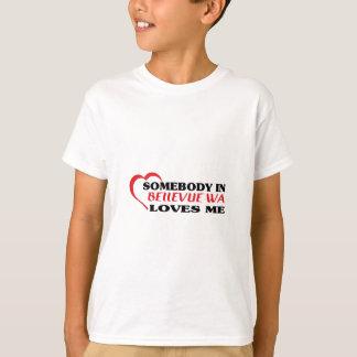 Bellevueの誰かは私をTシャツ愛します Tシャツ