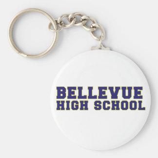 Bellevueの高等学校のキーホルダー ベーシック丸型缶キーホルダー