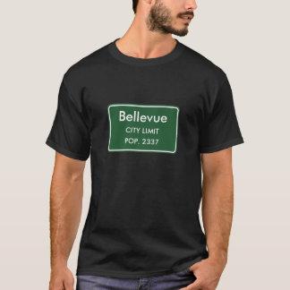 BellevueのIAの市境の印 Tシャツ