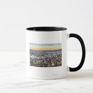 Bellingham、ワシントン州-都市のアンテナ マグカップ