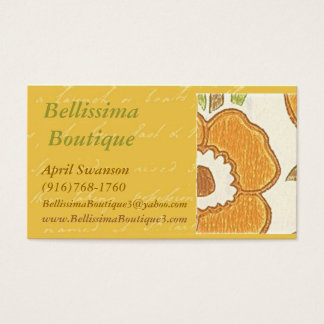 Bellissimaのブティック 名刺