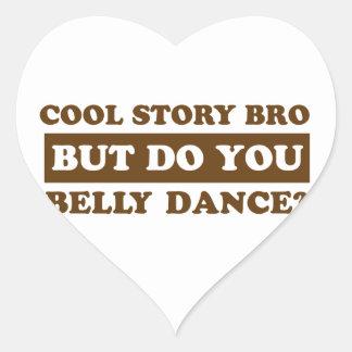 bellydanceのダンスのデザイン ハートシール