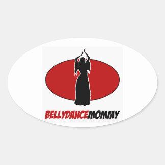 BELLYDANCEのデザイン 楕円形シール