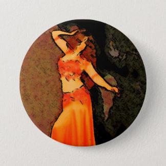 Bellydancerエレガントなボタン 7.6cm 丸型バッジ
