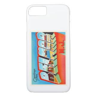 BelmarニュージャージーNJの古いヴィンテージ旅行郵便はがき iPhone 7ケース