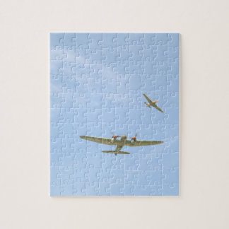 Below_WWIIの飛行機からの空気のぽんこつ自動車JU88、 ジグソーパズル