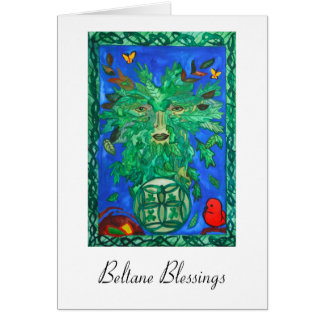 Beltaneのグリーンマンの挨拶状 カード