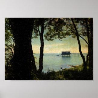 Bembridgeの救命ボートの場所 ポスター