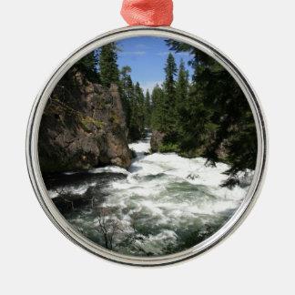 Benhamの滝、Sunriver、オレゴン メタルオーナメント