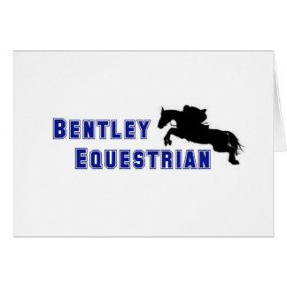 Bentleyの乗馬のチームカード カード