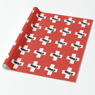 Benzinbrennerのスイス人の旗 包装紙