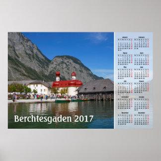 Berchtesgadenのドイツ2017カレンダー ポスター