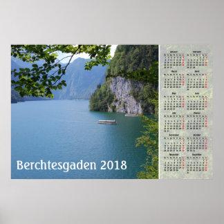 Berchtesgadenのドイツ2018カレンダー ポスター