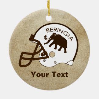 Beringiaのフットボールの大学 セラミックオーナメント