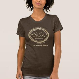 Beringiaのマンモスの大学 Tシャツ