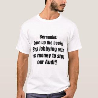 Bernanke: 本を開けて下さい tシャツ