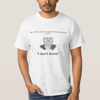 """Bernanke """"私が知らない"""" tシャツ"""