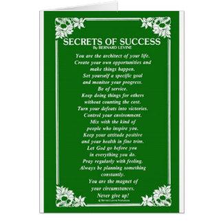 BERNARD LEVINEによる成功の秘密 カード
