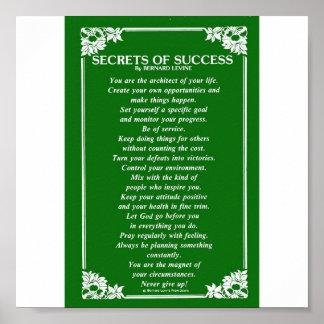 BERNARD LEVINEによる成功の秘密 ポスター