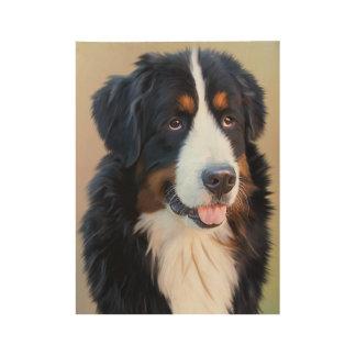Berner Sennenhund ウッドポスター