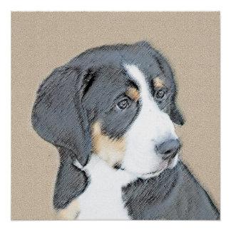 Bernese山の子犬 ポスター