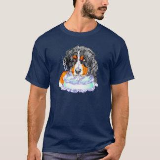 Bernese Mt犬のケーキの顔の誕生日 Tシャツ