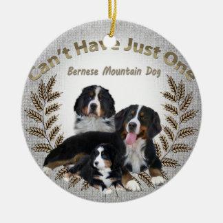 Bernese Mt.犬はちょうど1匹のオーナメントを有することができません セラミックオーナメント