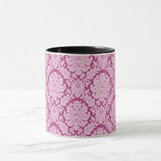 Berry_Cream_Damask (c)のピンク果実 マグカップ