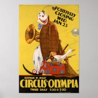 Bertramは」オリンピアポスターのサーカスを製粉します ポスター