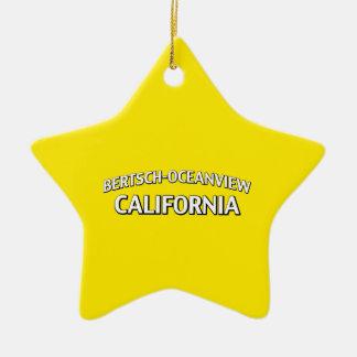 Bertsch-Oceanviewカリフォルニア セラミックオーナメント
