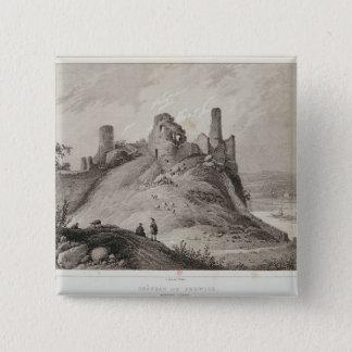 Berwickの城の眺め 5.1cm 正方形バッジ