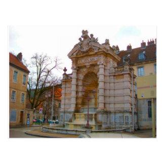 Besançonの噴水 ポストカード
