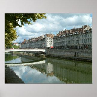 Besançonの水辺地帯 ポスター