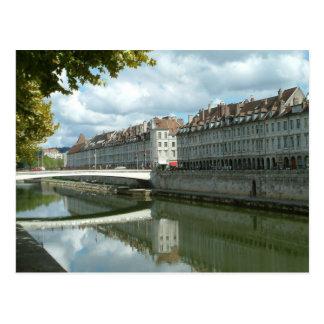 Besançonの水辺地帯 ポストカード