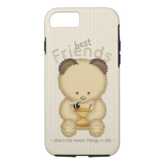 Best Friends Cute Honey Bear And Bee iPhone 8/7ケース