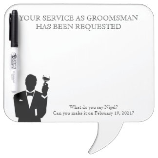 Best Man or Groomsman Whiteboard Invite ホワイトボード