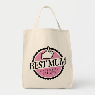 Best mum approved for life pink bag トートバッグ