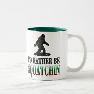 *BEST VERSION*私はむしろSquatchinのサスカッチです ツートーンマグカップ