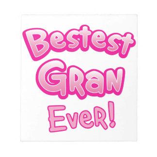 BESTESTのgranの祖母のおばあさん ノートパッド
