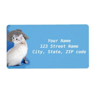 BestPeople著帽子の差出人住所ラベルの猫 ラベル