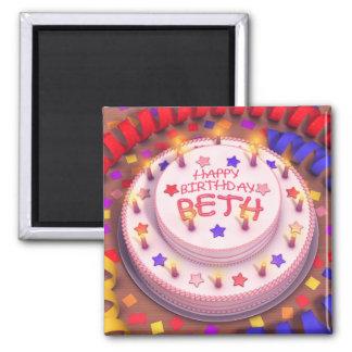 Bethのお誕生日ケーキ マグネット