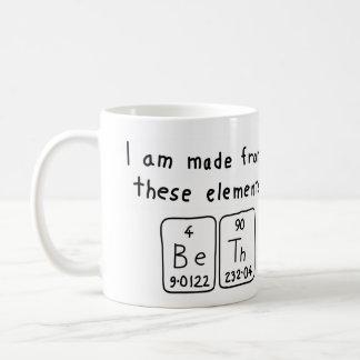 Bethの周期表の名前のマグ コーヒーマグカップ