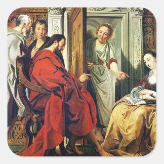 Bethanyのマーサそしてメリーの家のキリスト スクエアシール